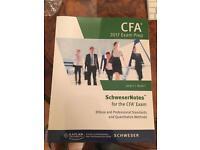 Brand new 2017 schweser notes CFA level 1