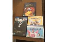 Disney Snow White , malificent and tooth fairy/2 dvd
