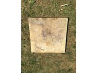 Used riven concrete paving slabs - 450x450x30mm - 10 slabs available