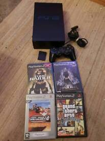 Sony ps2 console and games