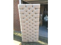 King size bed, base, headboard, mattress. Barely used. As new.