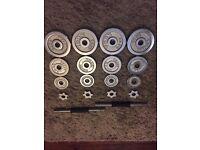 Iron dumbell set