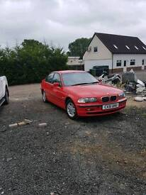 2001 bmw 318i red