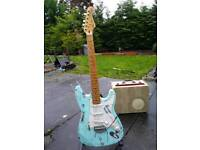 Stunning heavy relic stratocaster guitar.blues baby