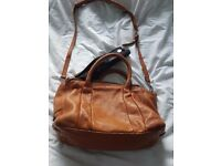 Zara leather large bag