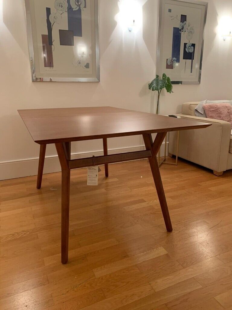 West Elm Mid Century Expandable Dining Table Walnut 152 203cm In Fulham London Gumtree