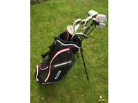 Used Wilson Golf Clubs and Fazer Bag. Adult men's.