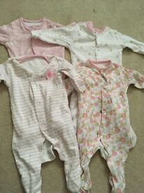 Baby girl babygros
