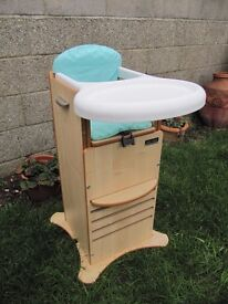 Little Helper Fun Pod High Chair and adjustable tower for supervised play