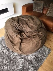 Bean2Bed - Double Size Bean Bag - Faux Suede - Dark Cocoa coloured