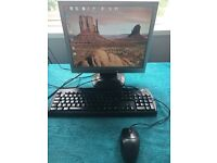32 in tv and pc desktop computer as a package