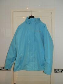 WOMENS TRESPASS COAT SIZE 18 IN AQUA BLUE