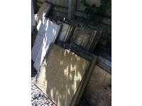 Assorted sized Slabs suitable for paths. 10 Square size and 20 oblong. Collection free.