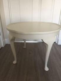 Round side or lamp table. Upcycled in Farrow and Ball