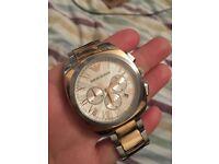 Rose Gold Emporio Armani watch AR 1937