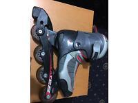 Inline roller Skates adjustable size 12-2