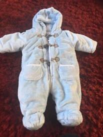 Baby Boys 0-3 Months Snowsuit/All in One