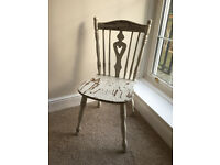 Vintage shabby chic chair - bedroom, photoshoot prop etc