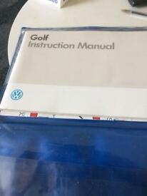 Vw golf instruction manual