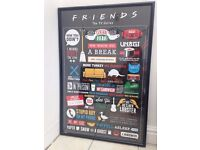 Friends TV series quotes framed poster, large