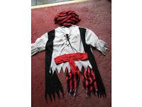 world book day pirate costume -size 5-7 -medium £5