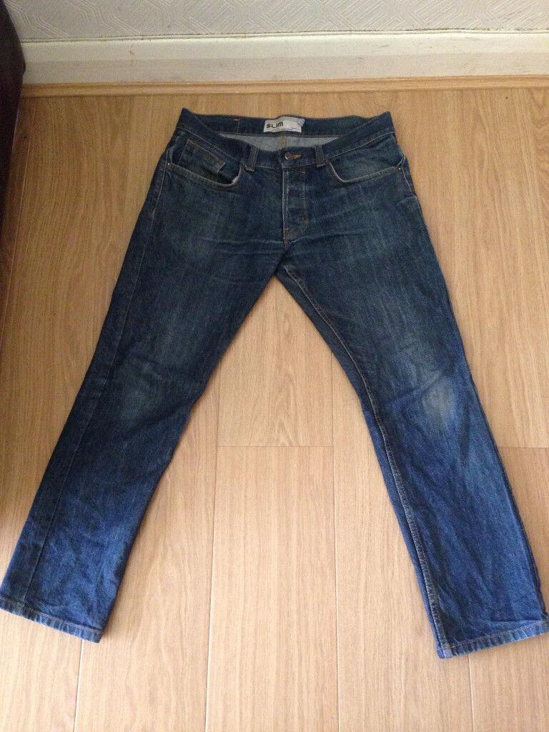Topman medium blue slim jeans 32short, great condition