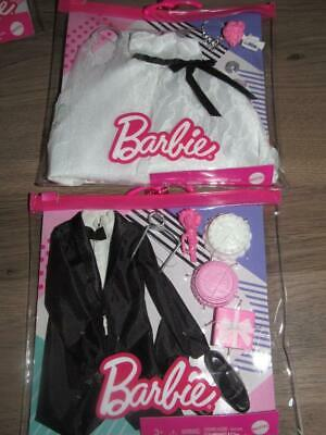 Barbie Fashionista Atuendos Vestido de Novia Novio Smoking Ken Ramo Pastel 2021