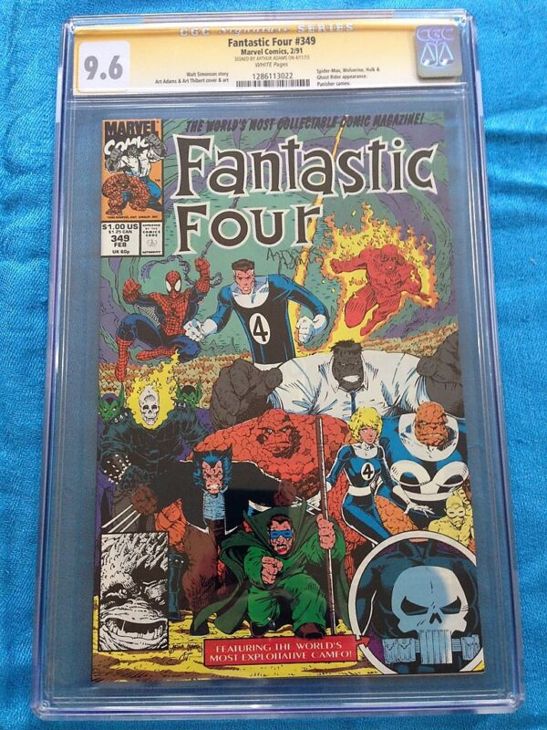 Fantastic Four #349 - Marvel - CGC SS 9.6 - Signed by Art Adams