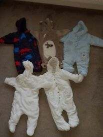 Baby boy snowsuits - various 0-3