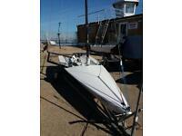 RS600 single handed sailing dinghy/skiff