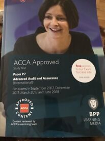 ACCA P7 advanced audit text book 2018