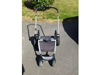 Mothercare pram converts to pushchair.