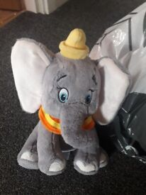 Babys soft dumbo toy with jingle and crinkle ears new