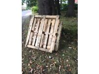 8 x wooden pallets free to collector