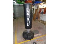 ROK Black punch bag on stand