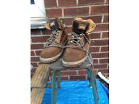 Site men's work boots size 10 uk brown leather steel toe cap