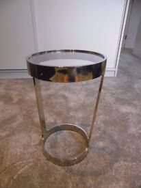 Rare glass/steel designer side table