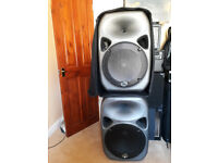 Wharfedale Titan Pro 15 passive speakers in ABS cabs. 400 watts RMS. £140 ono the pair ono