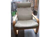 Ikea Leather Poang Armchair