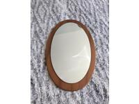 Oval mirror with wooden frame for sale  Glasgow