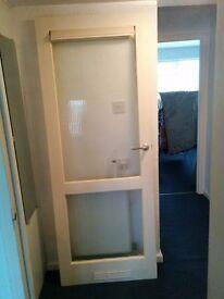 Free glazed internal door