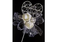Artificial foam bride and bridesmaids flowers