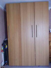 3 Door Solid oak doors wardrobe with pull out shelves