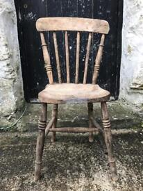 Pine chair upcycle vintage project