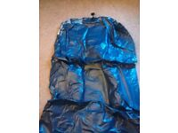 Navy blue single sized blow-up mattress