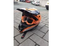 Bell orange helmet