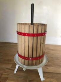 Cider apple fruit press