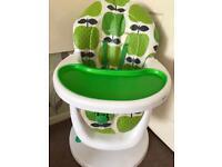 Cosatto 3sixti 360 high chair hapi apples