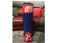 BRYAN 3FT PUNCHBAG AND GLOVES