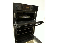 Hotpoint Built-in Electric Double Oven in black
